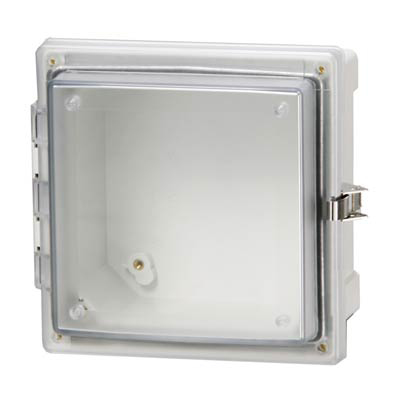Fibox AR10106CHSSLT Polycarbonate Electrical Enclosure w/Clear Cover