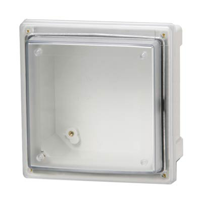 Fibox AR10106SCT Polycarbonate Electrical Enclosure w/Clear Cover