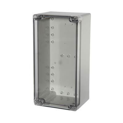 Fibox UL PCT 122410 Polycarbonate Electronic Enclosure w/Clear Cover