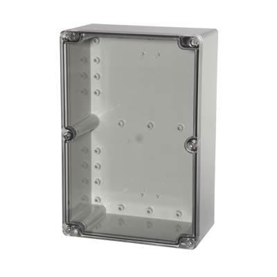 Fibox UL PCT 162409 Polycarbonate Electronic Enclosure w/Clear Cover