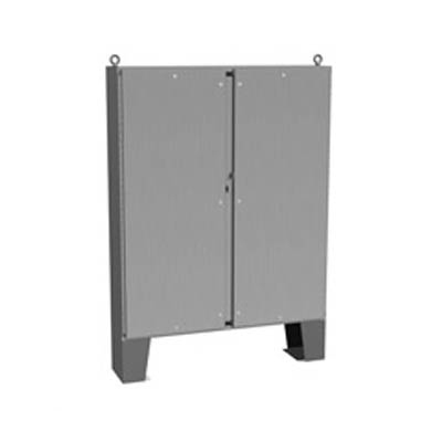 """Hammond Manufacturing 1422N4SSB12FQT 60x48x13"""" 304 Stainless Steel Floor Mount Electrical Enclosure"""