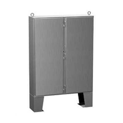 """Hammond Manufacturing 1422N4SSB12F 60x48x13"""" 304 Stainless Steel Floor Mount Electrical Enclosure"""