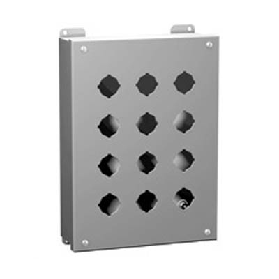Hammond Manufacturing 1435MD 10x3x3 Metal Pushbutton Enclosure with 4 Holes, 22.5 mm