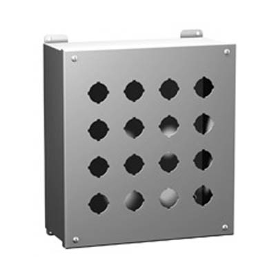 "Hammond Manufacturing 1437SSD 10x4x5"" 304 Stainless Steel Push Button Electrical Enclosure with 4 Holes, 30.5 mm"