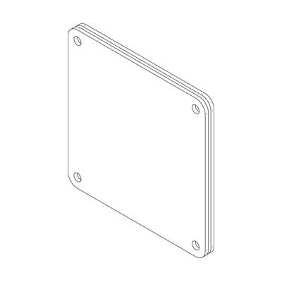 Hammond 1487EHSS Cover Plate