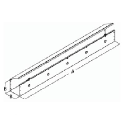 """Hammond CWST412 4x4x12"""" Metal Lay-In Wireway w/Hinged Cover"""