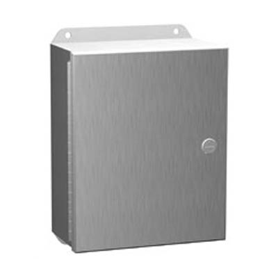 "Hammond Manufacturing EJ1084SS 10x8x4"" 304 Stainless Steel Wall Mount Electrical Enclosure"