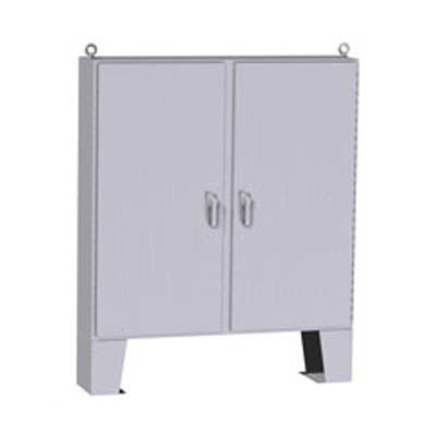 """Hammond Manufacturing HN4FM604812SS 60x48x13"""" 304 Stainless Steel Floor Mount Electrical Enclosure"""