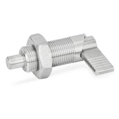 J.W. Winco 612-6-M12X1.5-AK-NI Stainless Steel Cam Action Indexing Plunger, Lock-Out