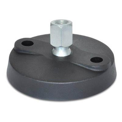 J.W. Winco 8TWP1 Nylon Base Leveling Mount, 1/2 x 13 Tapped Hole