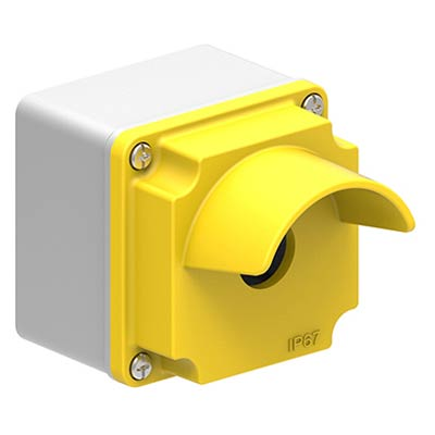 Lovato LPZM1A5P 3x3x3 Metal Pushbutton Enclosure with 1 Hole, 22.5 mm