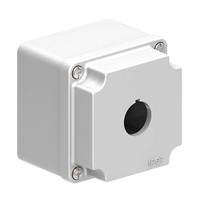 Lovato LPZM1A8 3x3x3 Metal Pushbutton Enclosure with 1 Hole, 22.5 mm