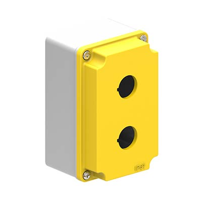 Lovato LPZM2A5 5x3x3 Metal Pushbutton Enclosure with 2 Holes, 22.5 mm