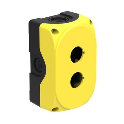 Lovato LPZP2A5 5x3x2 Polycarbonate Pushbutton Enclosure with 2 Holes, 22 mm