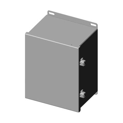 "Saginaw Control & Engineering SCE-10086CHNFSS 10x8x6"" 304 Stainless Steel Wall Mount Electrical Enclosure"