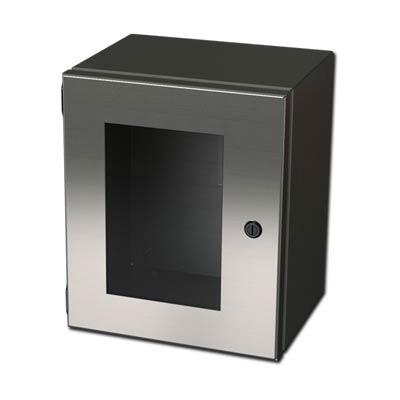 "Saginaw Control & Engineering SCE-10086ELJWSS6"" 316 Stainless Steel Enclosure"