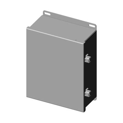 "Saginaw Control & Engineering SCE-1008CHNFSS 10x8x4"" 304 Stainless Steel Wall Mount Electrical Enclosure"