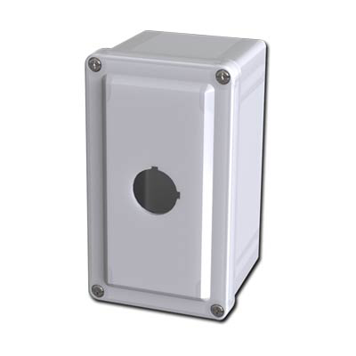 Saginaw Control & Engineering SCE-1PBFG 7x4x4 Fiberglass Pushbutton Enclosure with 1 Hole, 30.5 mm