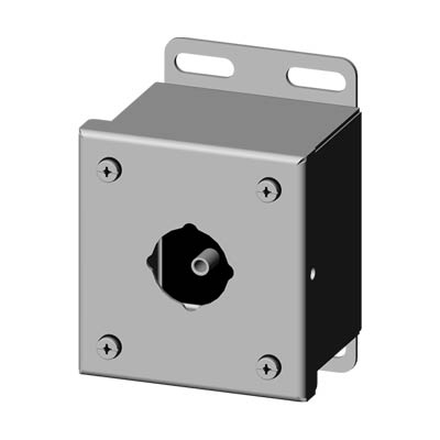 Saginaw Control & Engineering SCE-1PBSS6 4x3x3 316 Stainless Steel Pushbutton Enclosure with 1 Hole, 30.5 mm