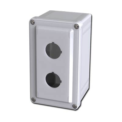 Saginaw Control & Engineering SCE-2PBFG 7x4x4 Fiberglass Pushbutton Enclosure with 2 Holes, 30.5 mm
