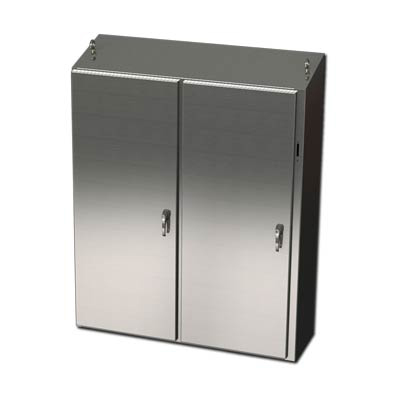 "Saginaw Control & Engineering SCE-60XEL4912SSST 60x49x12"" 304 Stainless Steel Free Standing Disconnect Electrical Enclosure"