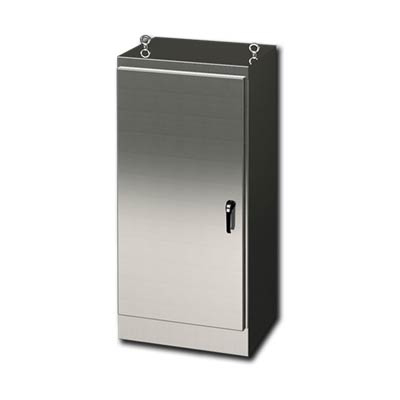 """Saginaw Control & Engineering SCE-72EL2418SSFS 72x24x18"""" 304 Stainless Steel Free Standing Electrical Enclosure"""