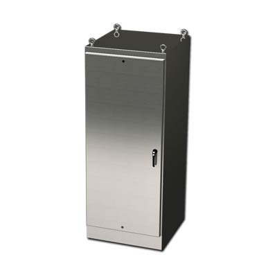 """Saginaw Control & Engineering SCE-72EL3636SSFS 72x36x36"""" 304 Stainless Steel Free Standing Electrical Enclosure"""