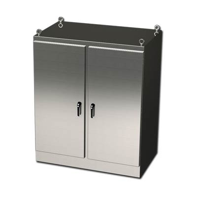 """Saginaw Control & Engineering SCE-72EL4818SSFSD 72x48x18"""" 304 Stainless Steel Free Standing Electrical Enclosure"""