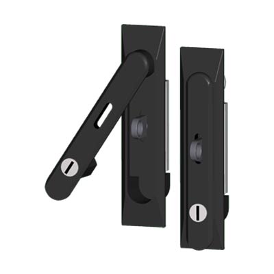 Saginaw Control & Engineering SCE-FSH6 Key and Pad Locking Quarter-Turn Latch