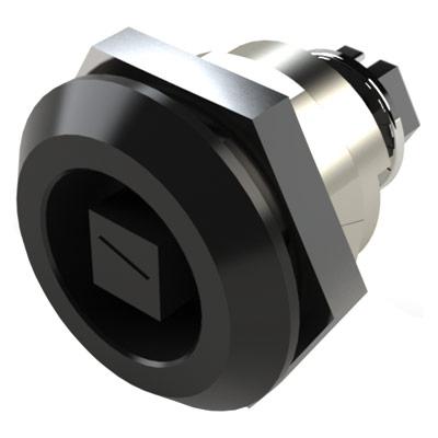 Saginaw Control & Engineering SCE-MINQ6MS Key Locking Quarter-Turn Latch