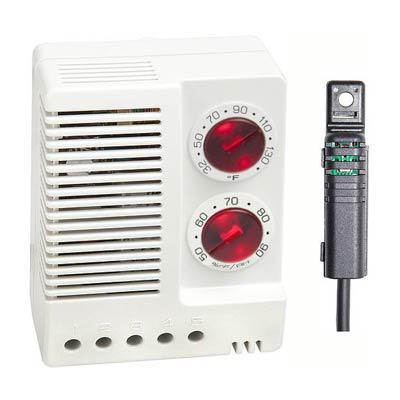 Stego 01231.9-00 Adjustable Electronic Hygrotherm, 32-140 F/50-90% RH